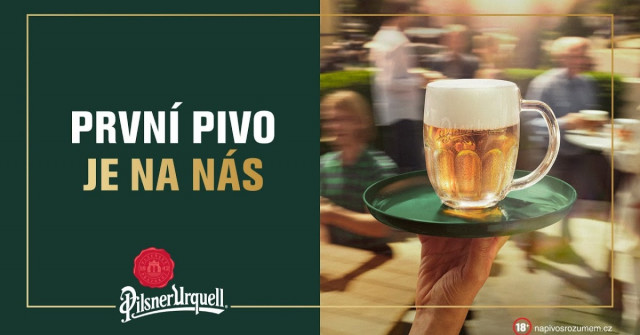 Pilsner láká na pivo zdarma. Extra plzničku dostanete všude tam, kde pivo čepují