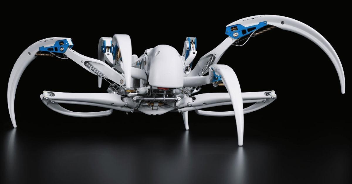 Robot Festo napodobuje chování pavouků ze Sahary